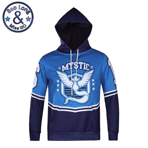 2016 Autumn Winter Fashion mystic bird pokemon Male Streetwear Hip Hop Long Hoodie Clothing Men Sweatshirt Cool Man