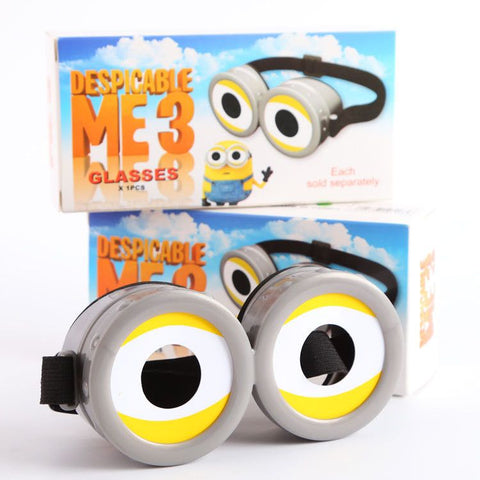 Hot Sale!Despicable Me Cartoon Cute Minions 3D Glasses Child Adult General Cinema Polarization 3D Cosplay