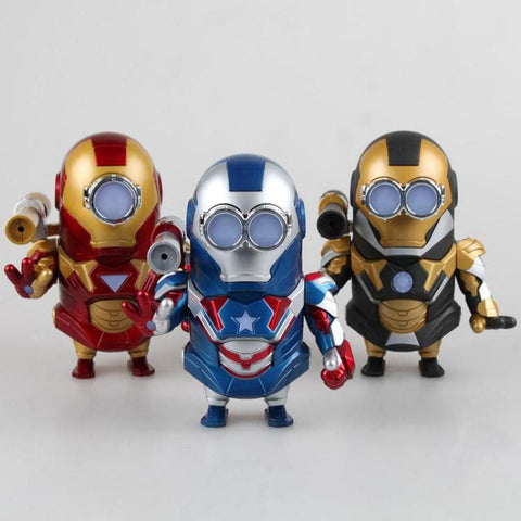 New Avengers Figures Minions Figures 13cm Cosplay Ironman Anime Figures Pvc Home Decoration Toys Hobbies Collection Models