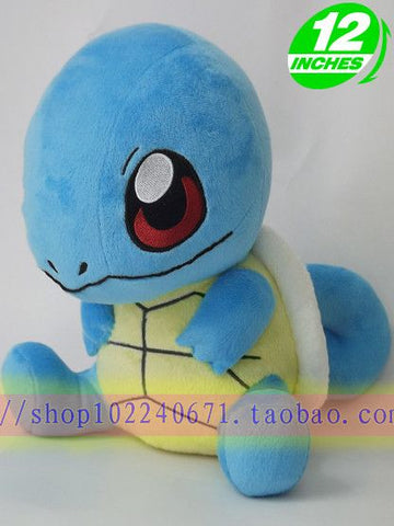 Florid pokemon turtle janigor plush doll dolls lovely blue turtle toys about 33cm