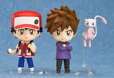 "Cute 4"" Nendoroid Pokemon Ash Ketchum & Gary Oak & Mew Boxed 10cm PVC Action Figure Model Collection Toy Gift #612"