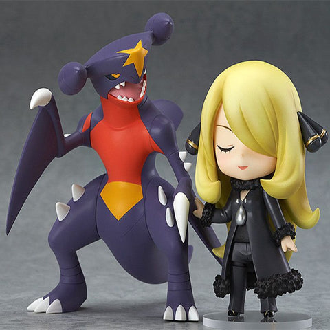 2pcs/lot Hot 10CM Pokemon Action Figure Toy Anime Nendoroid Pokemon Figures Cynthia Garchomp Collectible Model Children Toys