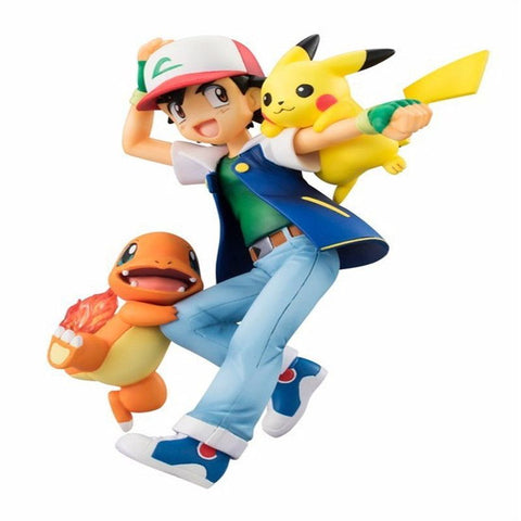 HOT GEM Pokem card Action Anime Figure Toys Ash Pikachu Charmander Sets Action Figure Pokemon Model Christmas Gift