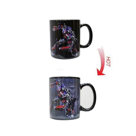 Transformers creative ceramic mug heat discoloration cup coffee cup milk cup birthday gift