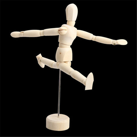 4.5/5.5/8 Inch Artists Wooden Male Manikin Blockhead Jointed Mannequin Puppet Craft Creative Gifts