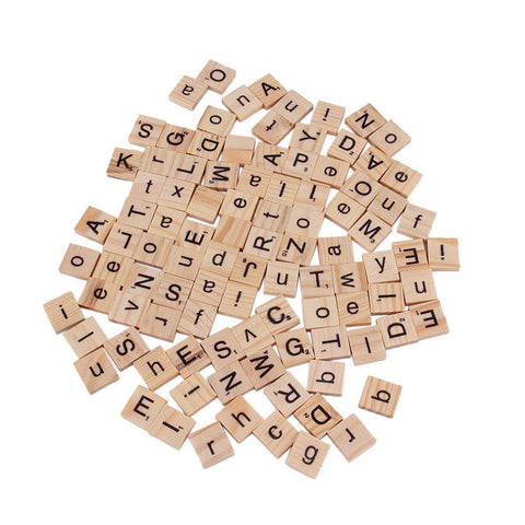 Alphabet Scrabble Tiles Black Letters & Numbers For Crafts Wood Brand Hot Selling