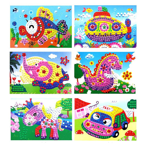 3D Foam Mosaics Sticky Crystal Art Princess&Butterflies Sticker Game Craft Art Sticker Kids Classic Toys Children Gift