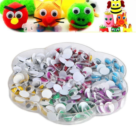 8mm Mix Color Eyelashes Wiggly Wobbly Googly Eyes Scrapbooking Crafts