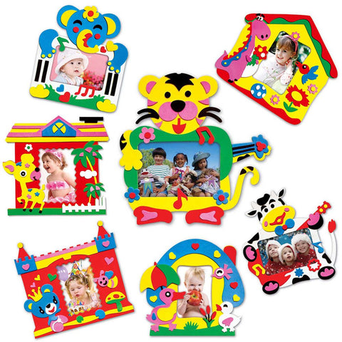 Random Delivered!!! DIY EVA Foam Sticker Self-adhesive Photo Frames Kids Crafts Handmade Toy Photo Frame Kids Children's Toys