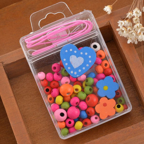 Multicolor Animals Creative Mixed Wooden Beads For Children DIY Craft Fine Jewelry Necklace Bracelet Findings