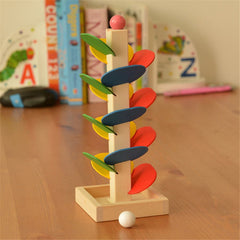 children  Montessori  Educational Toy  Wooden puzzle toy Tree Marble Ball Run Track Game Baby Kids  learning  Wooden  Toys  CU53
