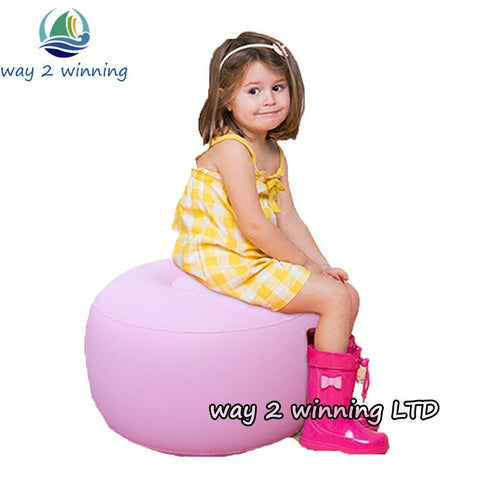 2016 New Pink Children Air Sofa Stools Inflatable Toys Lightweight Lounger Outdoor Activeity Bedroom Living Room Furniture