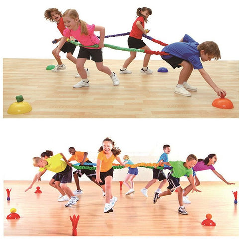Kids Indoor Outdoor Toy Child Elastic Sport Pull Rope Training Equipment Team Activity Tool Kid Sensory Integration Training Toy