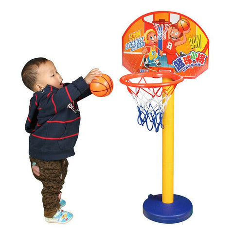 Children Sport Toy Basketball Kit Height Adjustable Best For Children 3 Years Up Outdoor or Indoor Toy Active Ability Develop