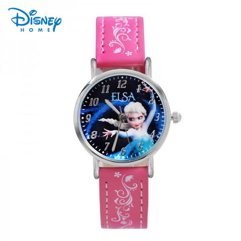 Disney Frozen Brand watches Elsa Princess child Fashion Watch Women Quartz-Watch watch