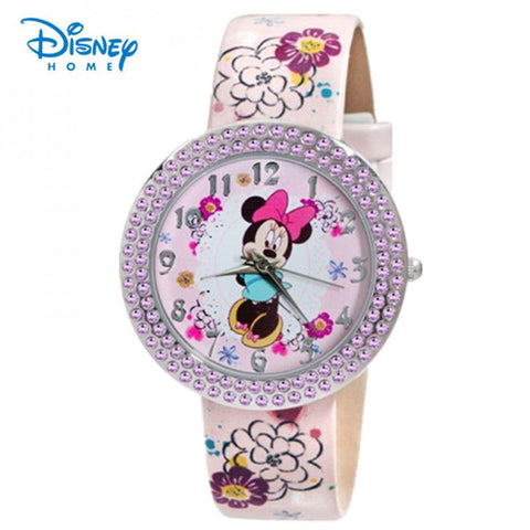 Disney Brand watches Minnie Frozen Sofia Princess watch printing Leather strap Casual watch