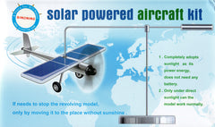 Car ornaments Solar airplane model aircraft Solar Energe Education kit Demonstrate Kit New idea gyropter rotation - Shazam Toys
