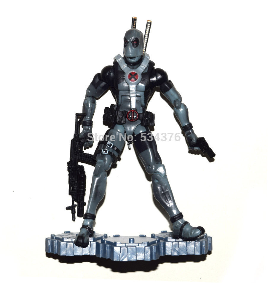 Marvel Legends Comic Super Hero X Force Deadpool Gray Suit Action Figure Loose