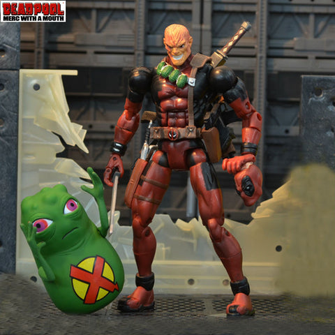MARVEL LEGENDS DEADPOOL LOOSE WITH WEAPONS AND DOOP