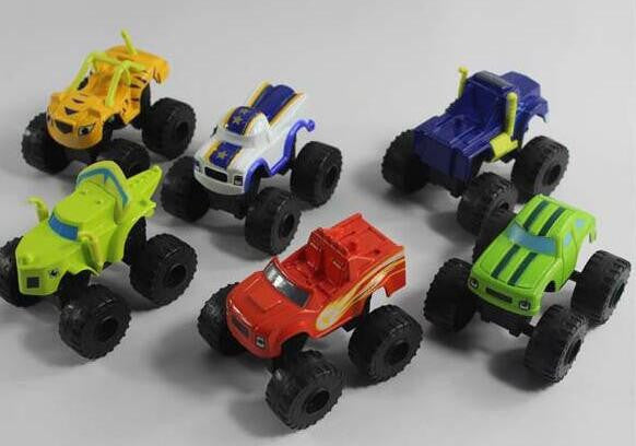 2016 6pcs/set Blaze Monster Machines Toys Vehicle Car Transformation Toys With Original Box Best Gifts For Kids - Shazam Toys
