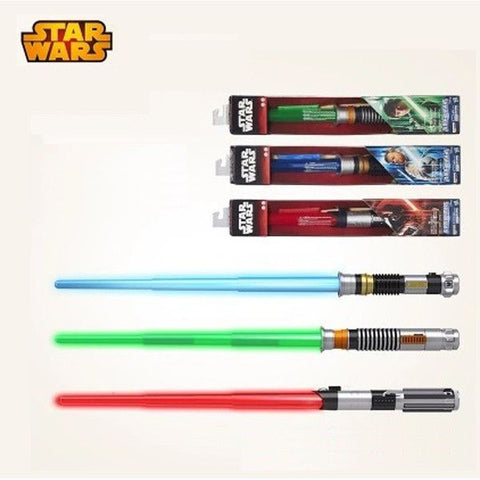 New high quality Star Wars Lightsaber Telescopic Light Saber Star Wars 7 Cosplay Weapons Sword with Light and Sounds Figure Toys