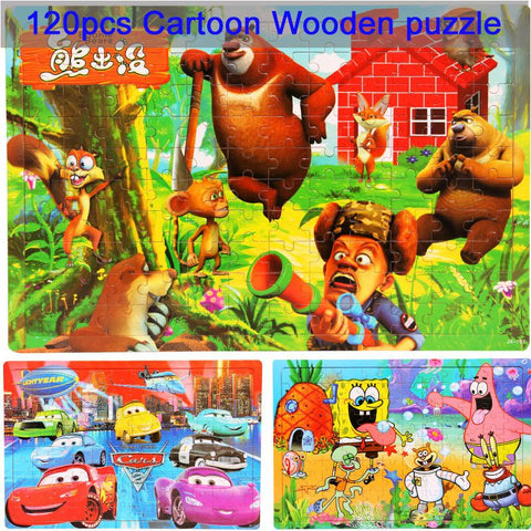 Wooden jigsaw puzzle education toy