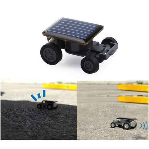 Mini Solar Cars Power Kids Toy Car Racer Educational Gadget Lovely Small Children Solar Toys Free Shipping