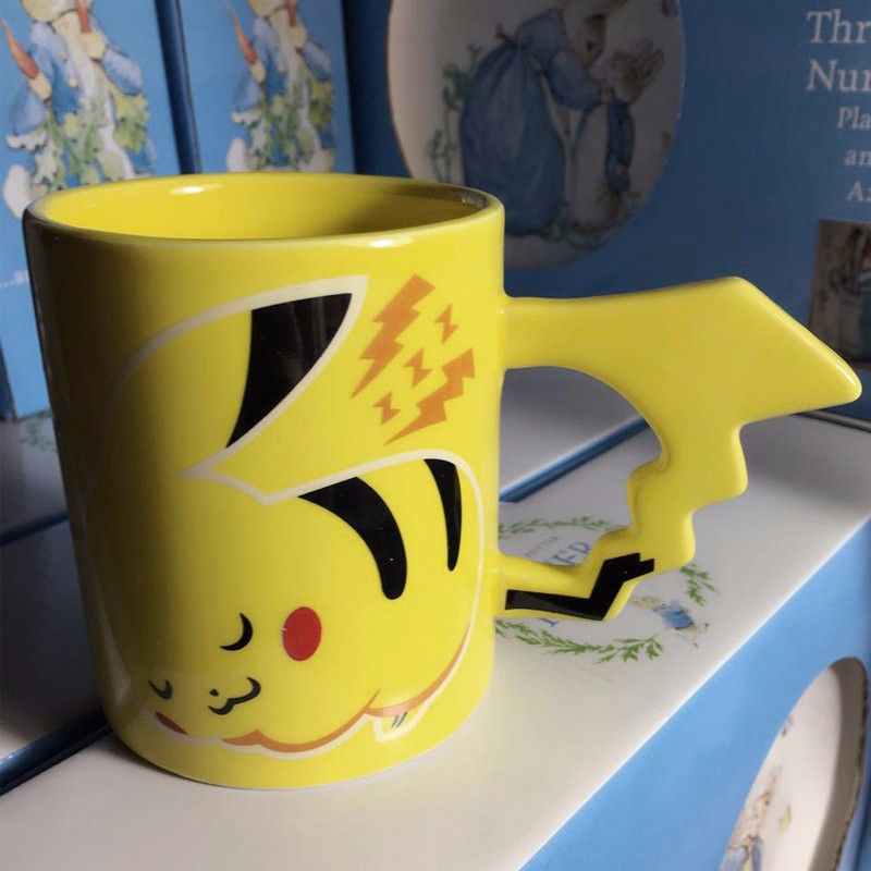 New Arrival Creative Pokemon Pikachu Travel Coffee Mug Ceramic Tea Water Bottle Cup Adult Kids Gifts Espresso Cups - Shazam Toys