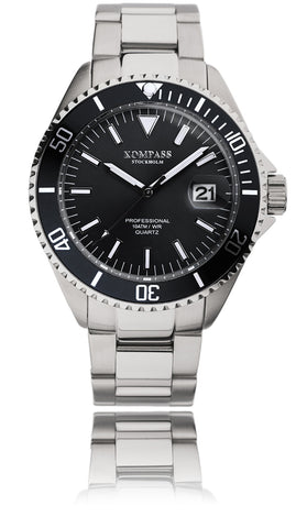 KOMPASS PROFESSIONAL DIVER BLACK