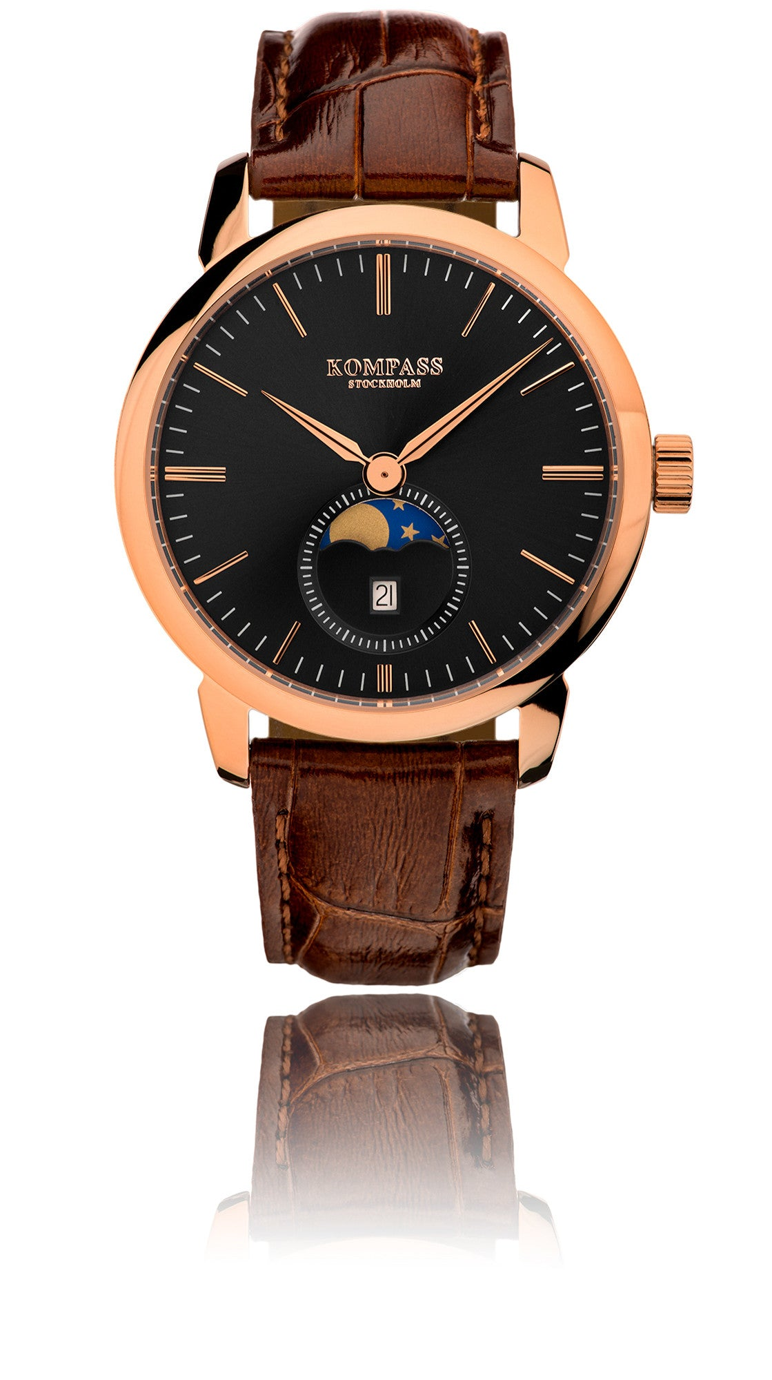 strap rose gold timepieces watches mens rotary the windsor w collection en watch brown main