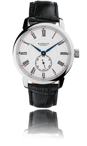 KOMPASS GRAND MASTER WHITE DIAL BLACK STRAP