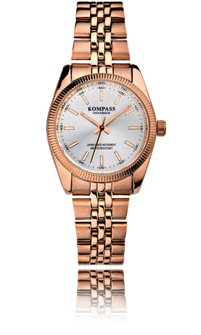 Kompass Santorini Ladies Rose Gold Silver