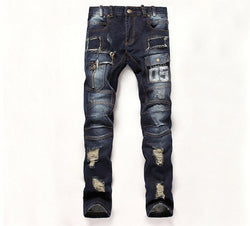 Distressed Denim Skinny Jeans - Young Men's Clothing CO.