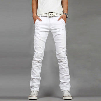 White Denim Skinny Jeans - Young Men's Clothing CO.