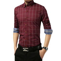 Plaid Casual Shirt - Young Men's Clothing CO.