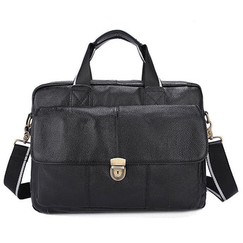 Genuine Leather Men's Messenger Bag - Young Men's Clothing CO.