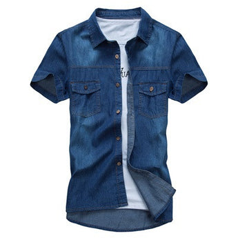Vintage Denim Casual Shirt - Young Men's Clothing CO.