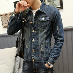 Denim Long Sleeve Casual Shirt - Young Men's Clothing CO.