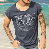Graphic Slim Fit T-shirt With Cap Sleeves