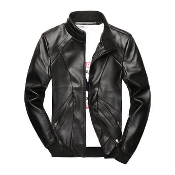 Black Leather Jacket - Young Men's Clothing CO.
