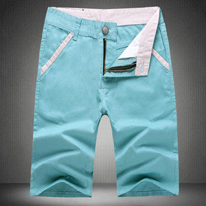 Solid Color Straight Leg Shorts - Young Men's Clothing CO.