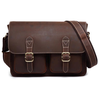 Crazy Horse Brand Leather Men's Messenger Bag - Young Men's Clothing CO.