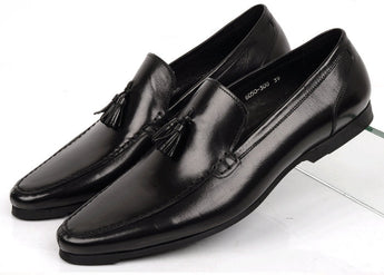 Classic Leather Tassel Loafer - Young Men's Clothing CO.