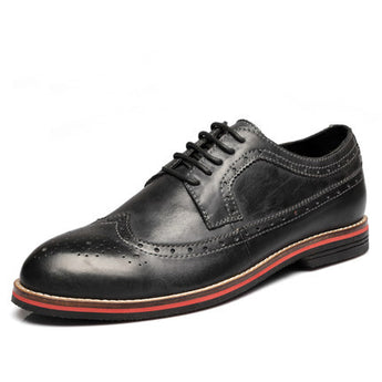 Leather Brogue Shoes - Young Men's Clothing CO.