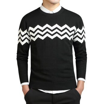 Wave Shape Cashmere Sweater - Young Men's Clothing CO.