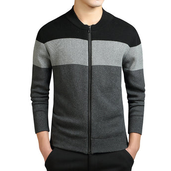 Patchwork Cardigan Sweater - Young Men's Clothing CO.