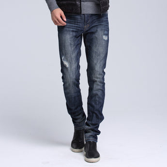 Dark Wash Ripped Jeans - Young Men's Clothing CO.