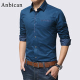 Cotton Long Sleeve Dress Shirt - Young Men's Clothing CO.