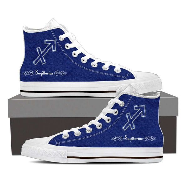 Sagittarius High Top Canvas Shoes