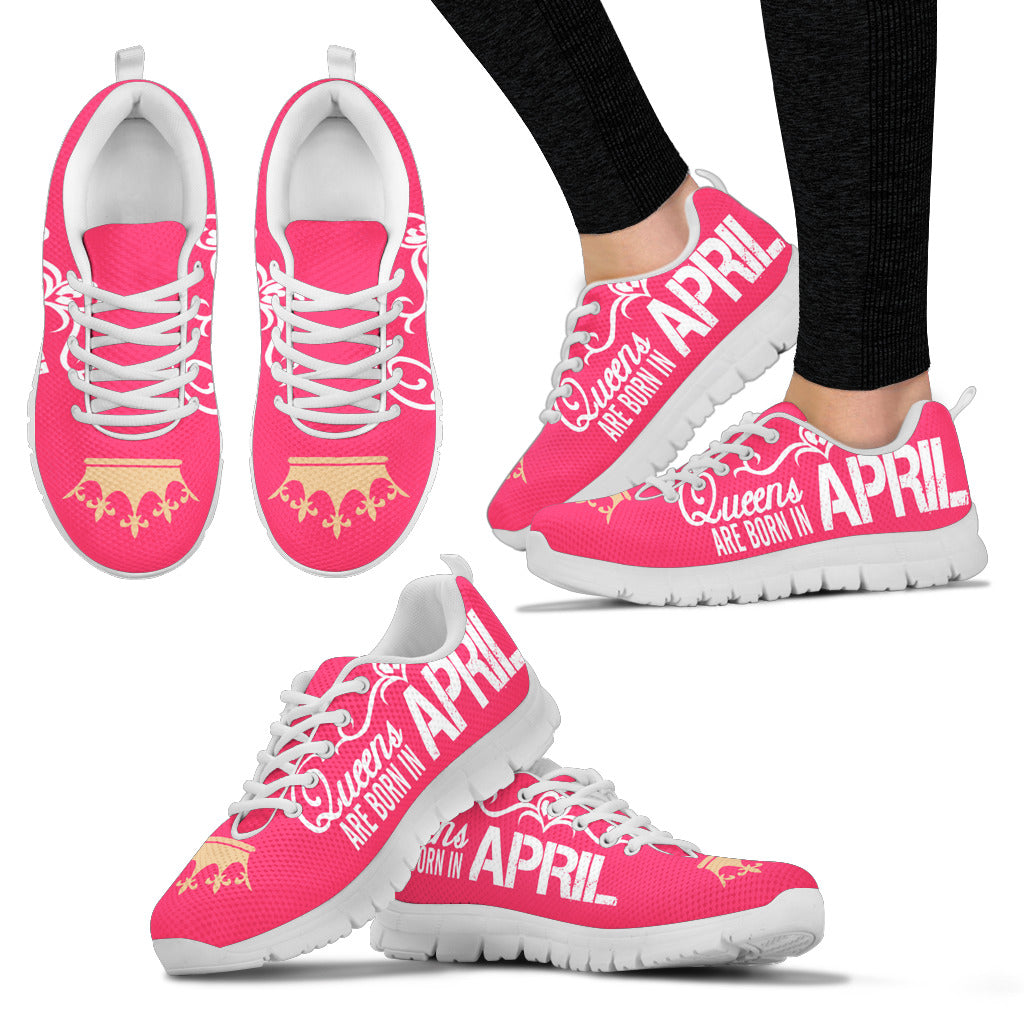 Queens Are Born In April Women's Sneakers